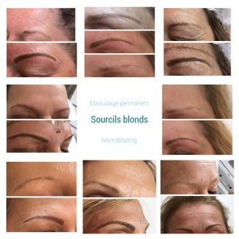 Microblading sourcils blonds