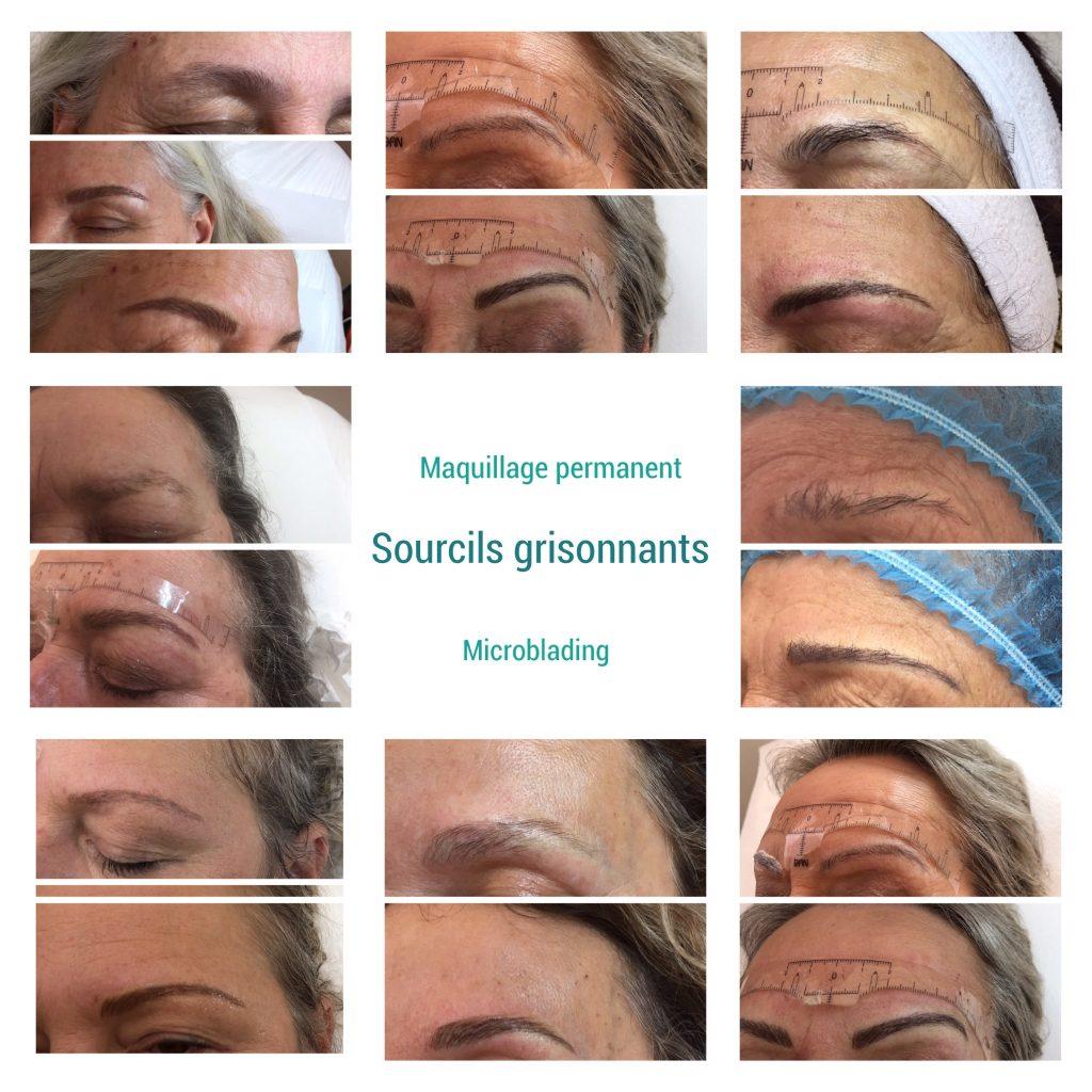 Maquillage des sourcils grisonnants