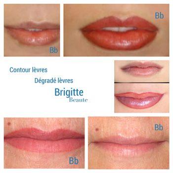 Les lèvres en maquiullage